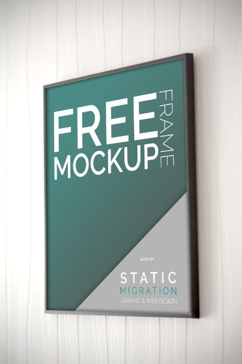 Beautiful Frame PSD Mockup