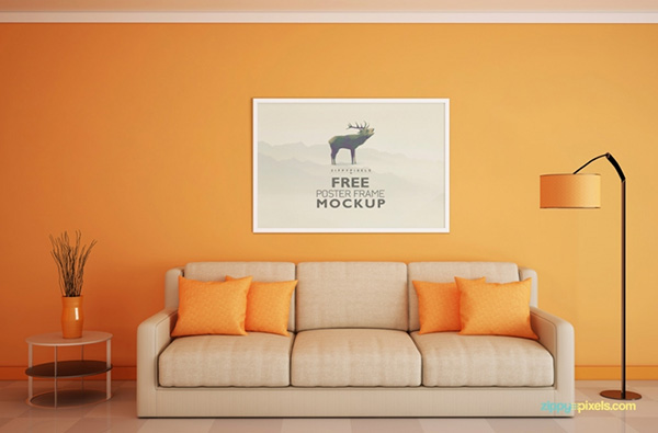 Beautlful House Design Poster Free Poster Mock-ups