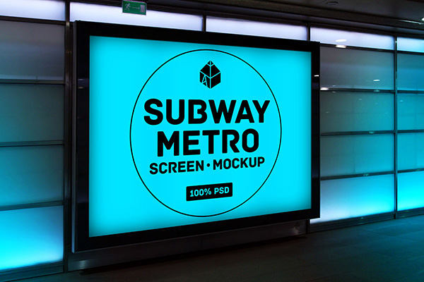 Metro PSD Free Mockup