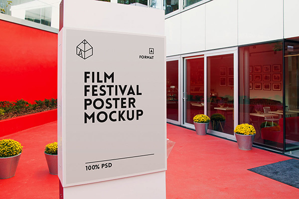 Movies Festival PSD Free Poster Mock-ups