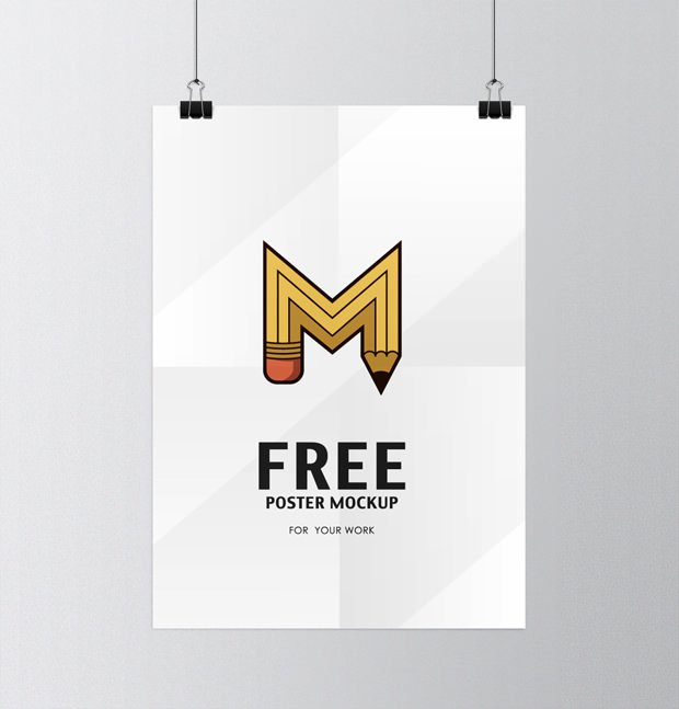 PSD Hanging Poster Mockup Download