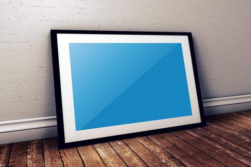 Photo Frame PSD Free Poster Mock-ups