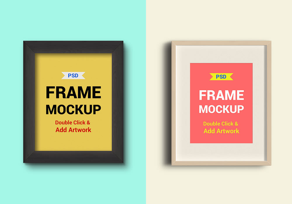 Photo Frames PSD Free Poster Mock-ups Download