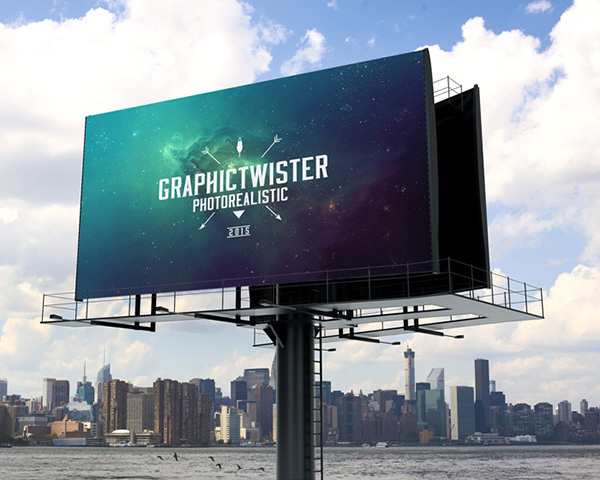 billboard advertisement PSD Free Poster Mock-ups