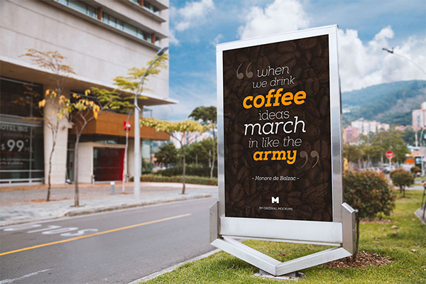 billboard advertising PSD Mockup