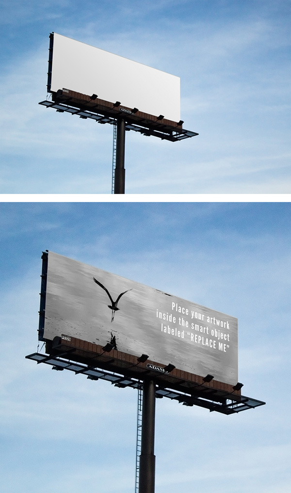 billboard mockup psd Free Poster Mock-ups