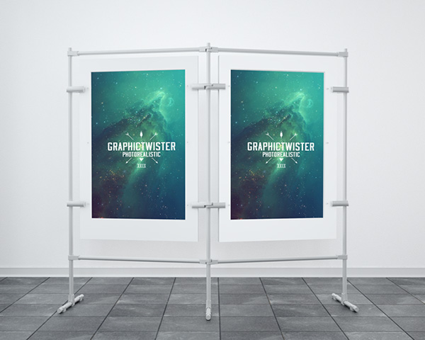 double stand PSD Mockup