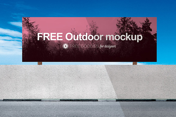 free billboard Ads PSD Mockup