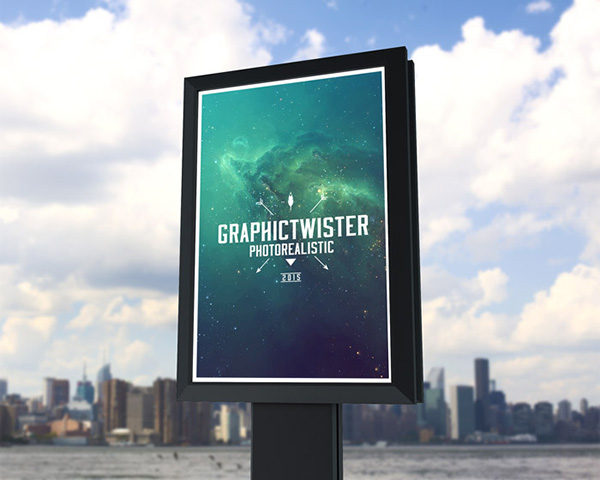 small billboard PSD Poster Mockup