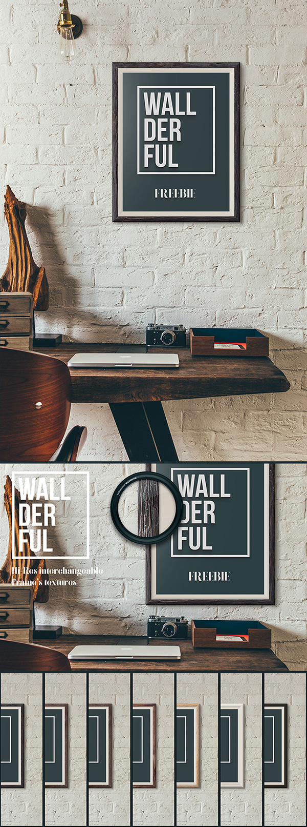 wallderful free frame PSD Free Poster Mock-ups