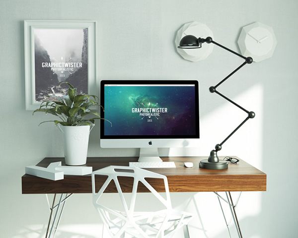 workspace PSD Mockup