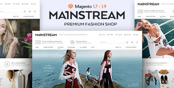 MainStream Fashion Magento Theme