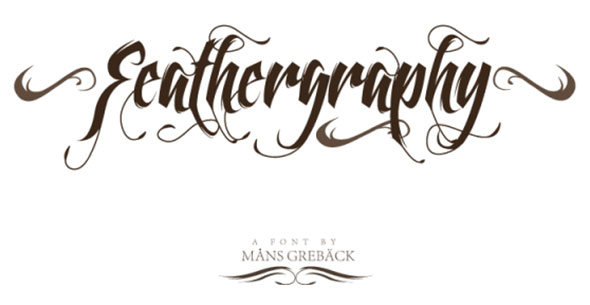 feather tattoos font