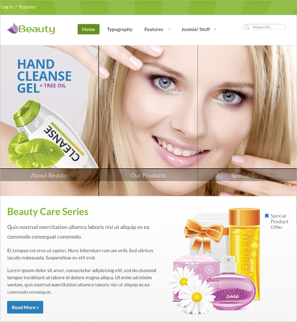 Beauty Care Spa Salon Joomla Theme
