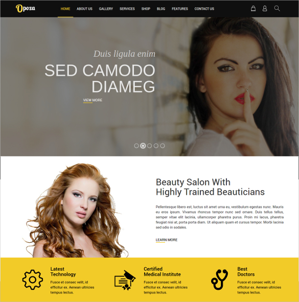 Beauty Salon Joomla Theme