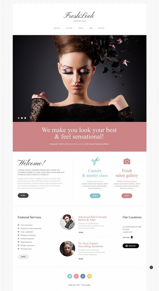 Best Beauty Salon Joomla Template Download
