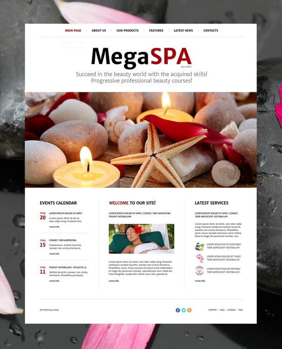 Mega Spa Salon Responsive Joomla Template