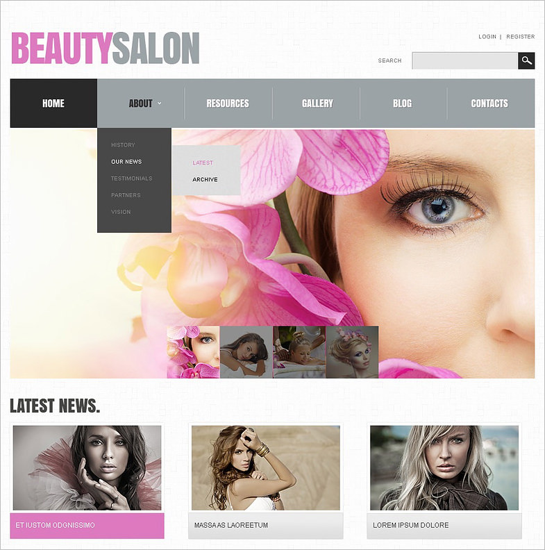 Responsive Beauty Salon Responsive Joomla Template