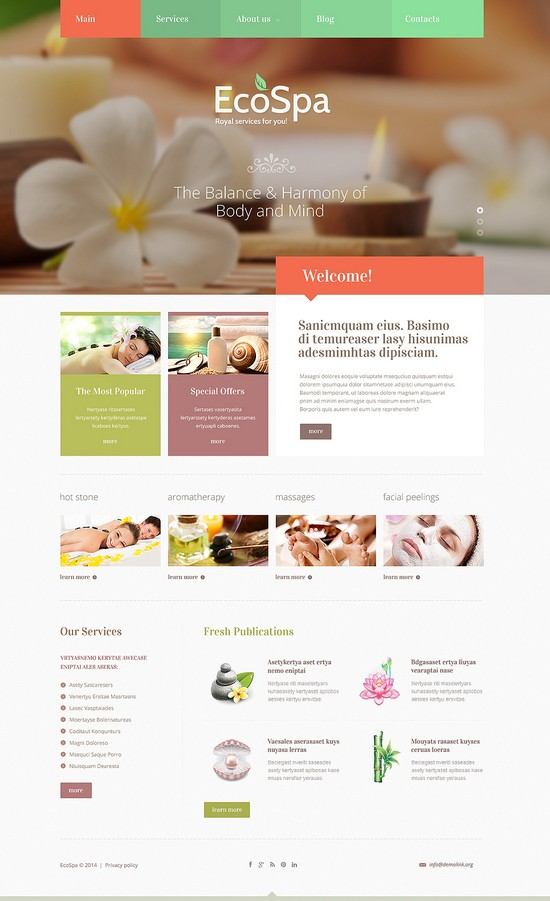 Spa Accessories Joomla Template