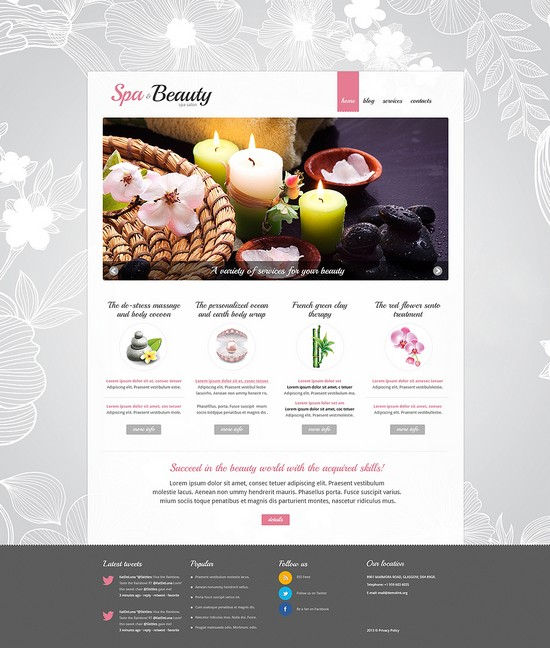 Spa Procedures Responsive Joomla Template