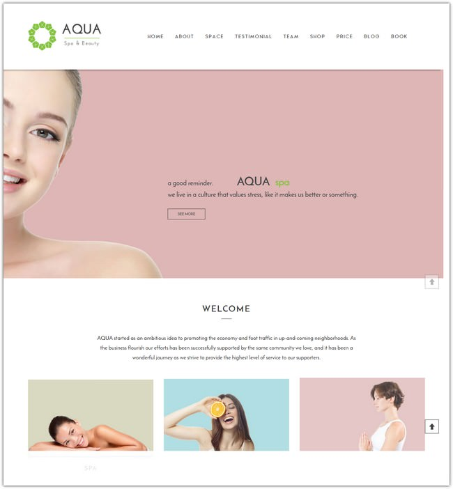 Spa and Beauty Joomla Responsive VirtueMart Template