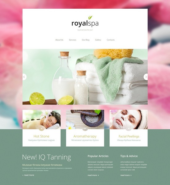 Tender Spa Salon Joomla Responsive Template