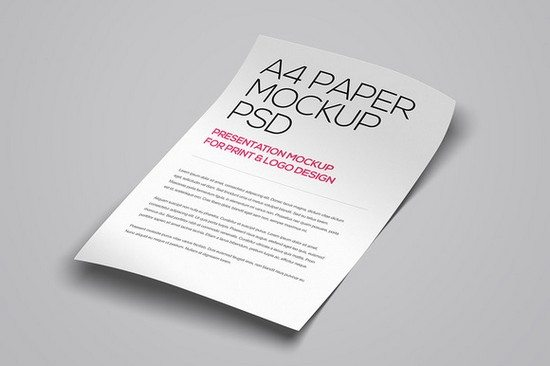 3 Floating A4 Paper PSD Mockup