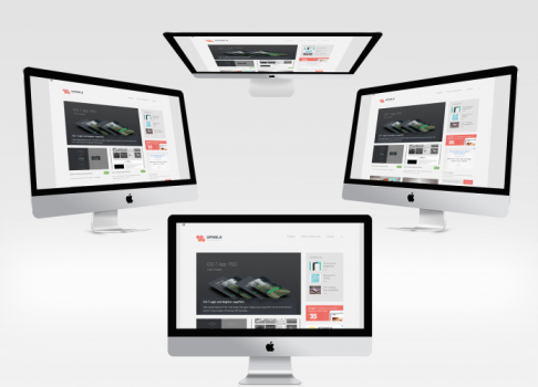 4 New iMac Mockups Set free download
