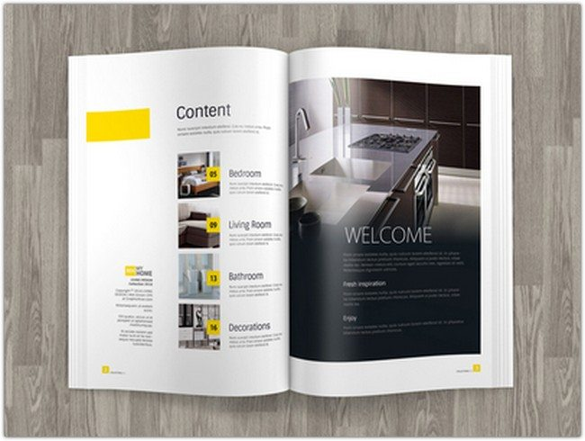 A4 Brochure Ad Magazine TemplateMock up