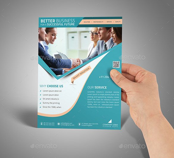 A4 Flyer Poster PSD Mockup Templates