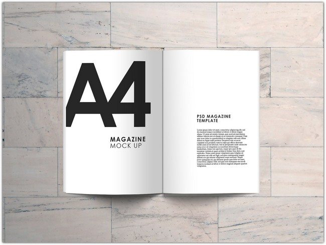 A4 Magazine Mock Up FREE