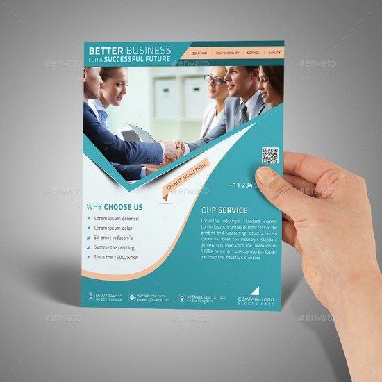 A4 Paper in Hand PSD Mockup Templates