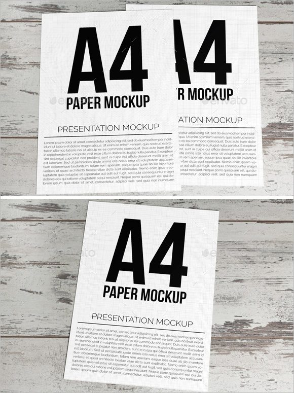 A4 Size Paper Flyer PSD Mock Up Template