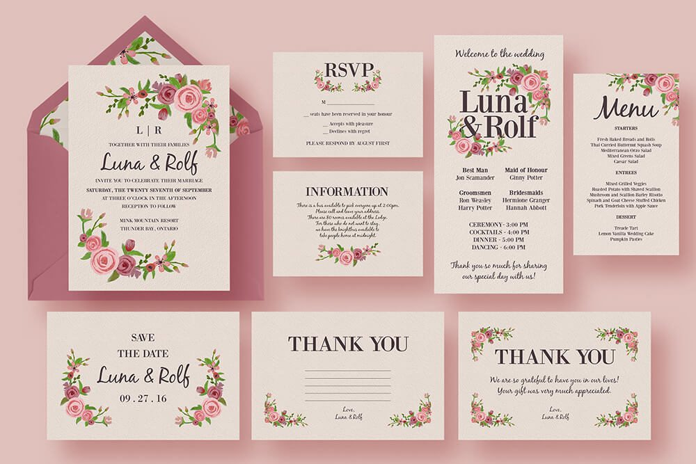 Adorable Pink Wedding Invitations Ideas