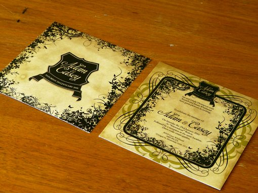 Artistic Wedding Invitations Examples