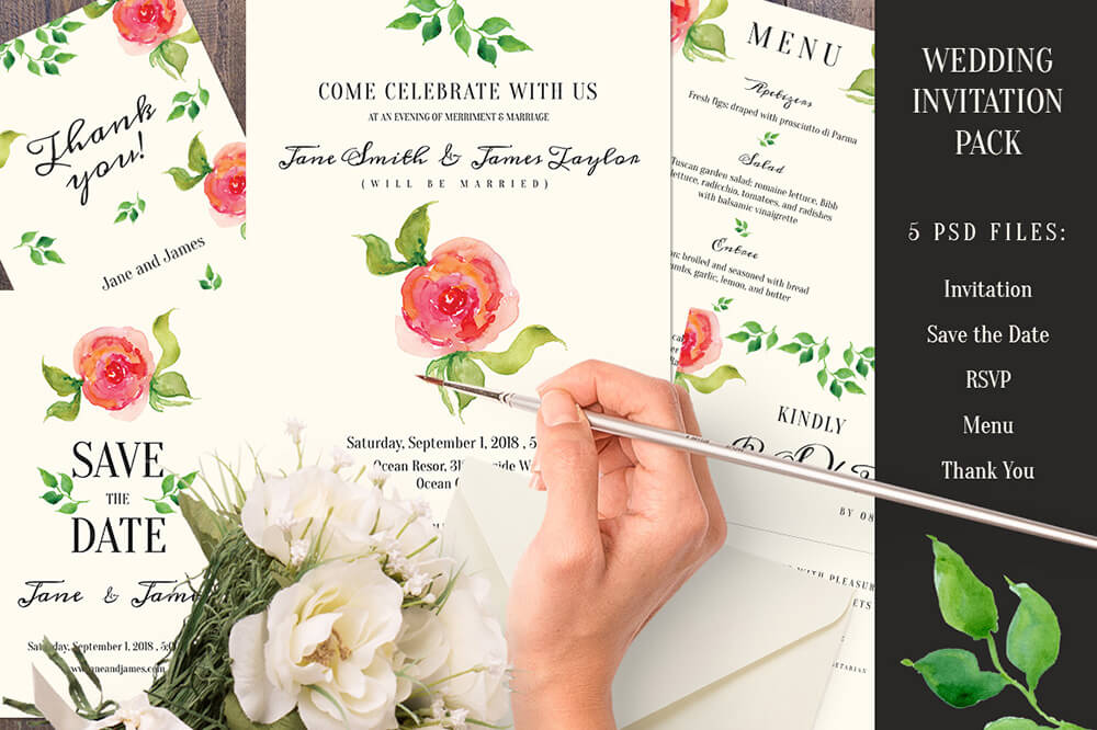 Artsy Wedding Invitations Examples Ideas