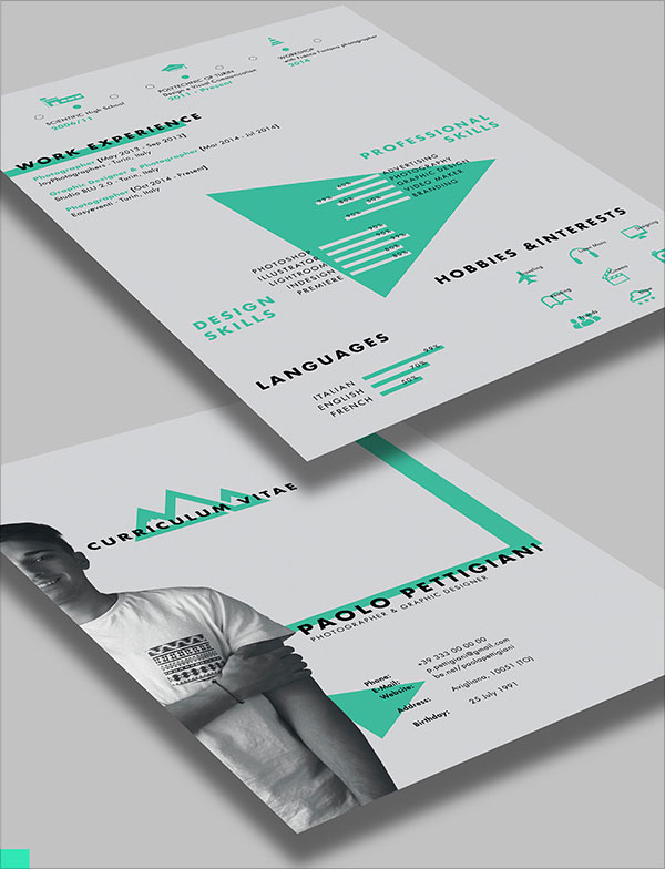 Beautiful CV Indesign Resume Templates