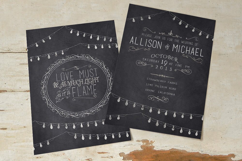 Black Wedding Invitations Examples