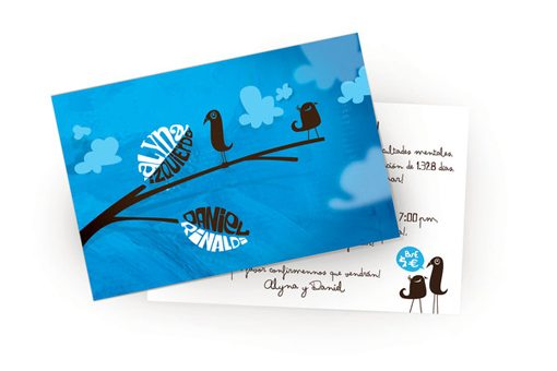 Blue Wedding Invitations Examples