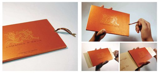 Bright orange Wedding Invitations Cards