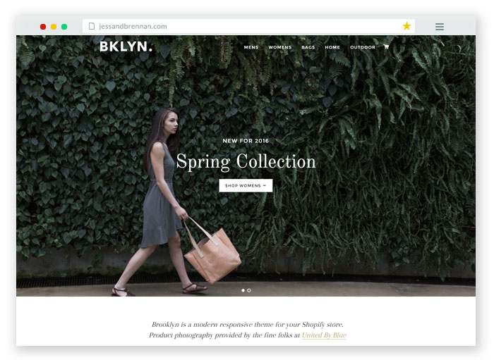 Brooklyn modern Responsive Shopify Theme