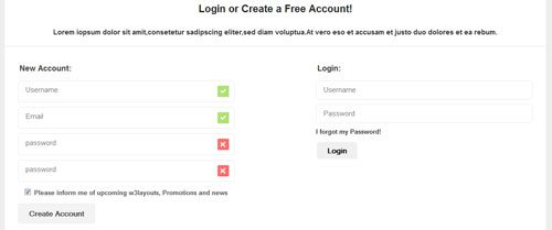CSS Login and Sugnup free Template