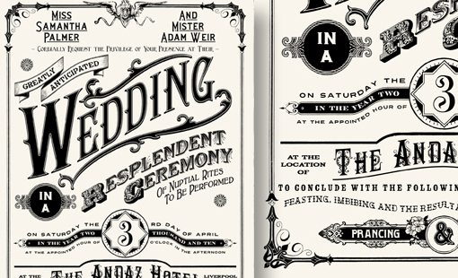 Calligraphy Wedding Invitations Examples