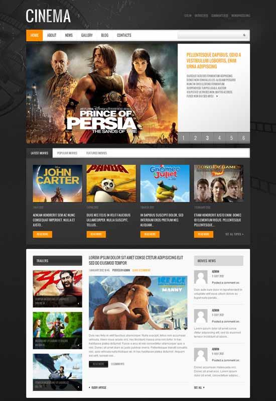 Cinema Video WordPress Theme