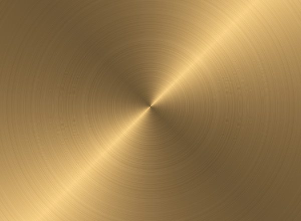 Circular Brushed Gold Metal Texture For_designers