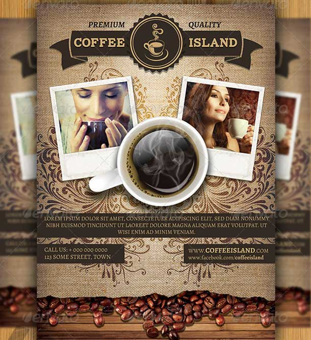 Coffee Shop Magazine Flyer Template