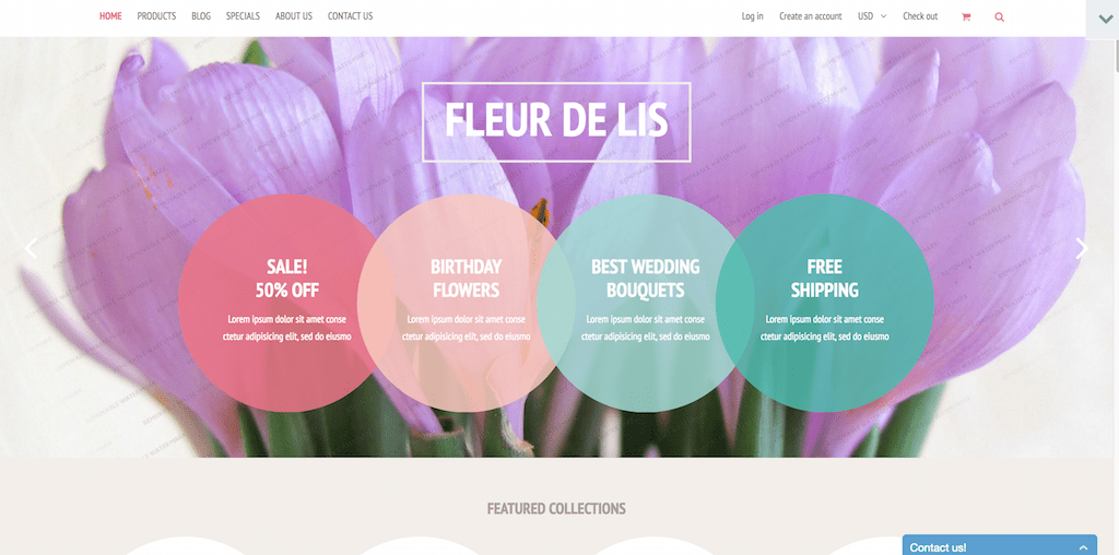 Demo for Fleur de lis Shopify Theme Shopify Theme