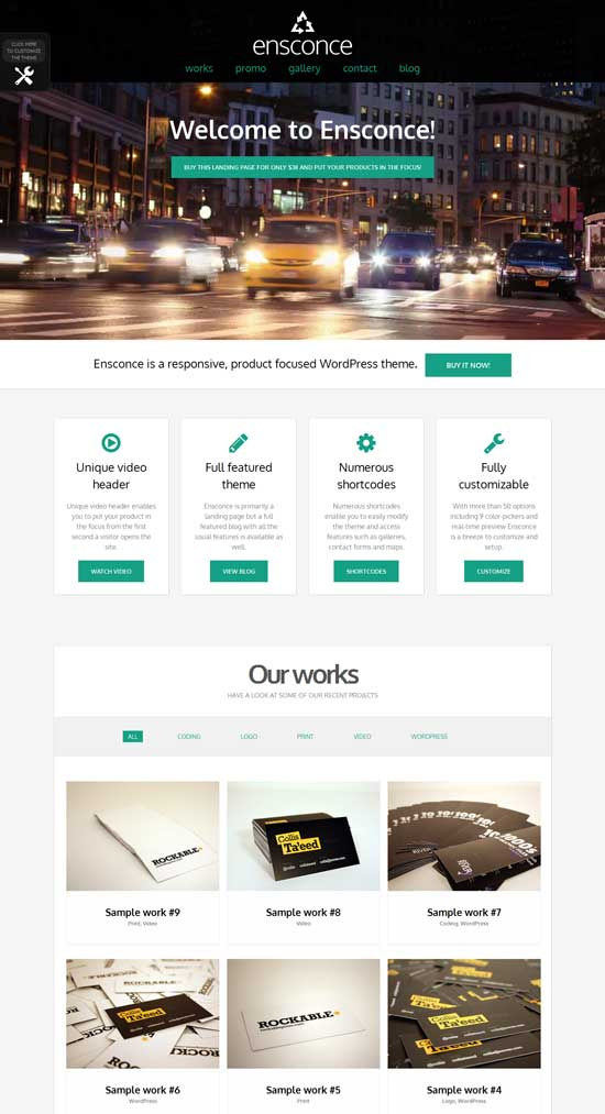 Ensconce Video WordPress Theme