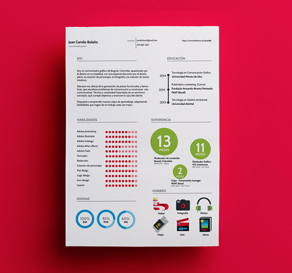 FJuan Resume Indesign Resume Templates