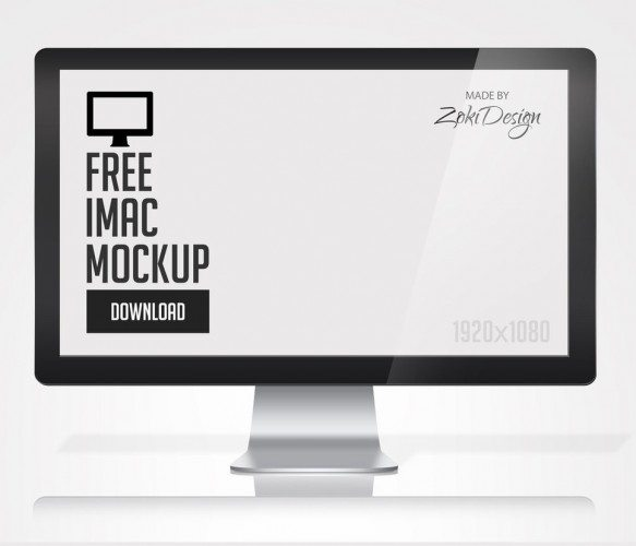 FREE IMac PSD Mockup download